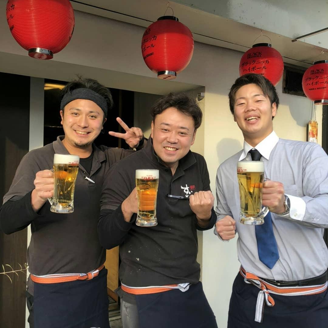 こんにちは!  本日より鯱家の ビールが変更になり、 アサヒスーパードライに なりましたv(・∀・*)  地域1美味しい アサヒビールを 提供して行きたいと 思っておりますので よろしくお願い致します!  今日は極寒ですが そんな日は暖房の効いた 店内でビールでしょう 笑  それでは本日も よろしくお願い致します ・ ・ eat トラベル